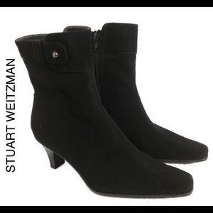 Stuart Weitzman Elemental Black Ankle Boots